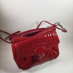 Coach Poppy Red Patent Leather Crossbody